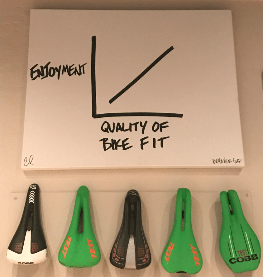 saddle fit road bike fitting