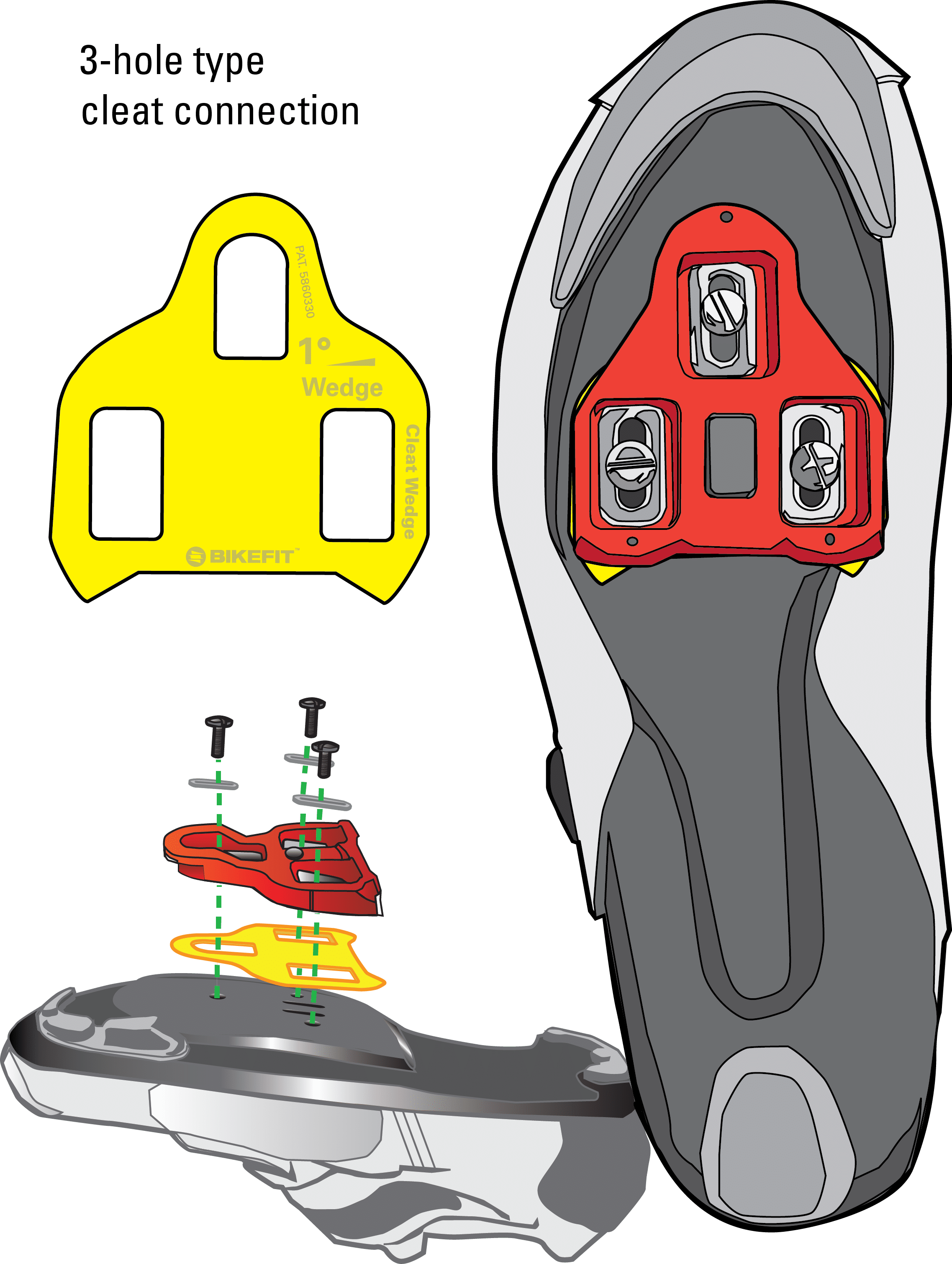 bicycle cleats look wedge